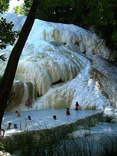 Terme di San Filippo hot spring  in Tuscany, Italy