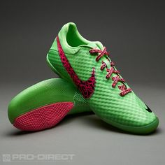 Nike Football Boots - Nike Elastico Finale II - Fives - Soccer Cleats - Fresh Mint-Pink Flash-Neo Lime