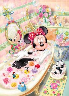 Image about disney in 💗💕 Mickey & Minnie 💗💕 by Cristela Walt Disney, Disney Magic, Disney Art, Retro Disney, Disney Girls, Disney Love, Chats Disney, Disney Cartoons, Minnie Mouse Pictures