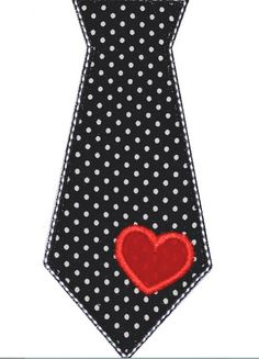 Embroidered Valentine's Day Tie on Shirt or Onesie for Little Boys - FREE SHIPPING. $20.00, via Etsy.