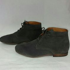 Women's Franco Sarto Poker Suede Bootie New without box Women's Franco Sarto Poker Suede Desert Bootie. The color is called Anthracite but it looks dark grey to me. Great looking shoe, thanks for looking!! Franco Sarto Shoes Flats & Loafers