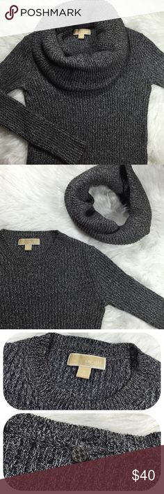 Michael Kors Cowl Neck Sweater MICHAEL Michael Kors sweater ➵ super versatile sweater features detachable cowl neck ➵ can use cowl neck as a scarf with another top ➵ think knit fabric featuring shades of grays and blacks MICHAEL Michael Kors Sweaters Cowl & Turtlenecks