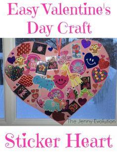 Easy Valentine Craft: Sticker Hearts (Fine Motor Work) - The Jenny Evolution