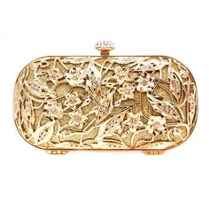 gold bridal clutch inspired by Alexander McQueen ❤ liked on Polyvore