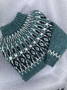Fair Isle Knitting Patterns, Knitting Designs, Knitting Projects, Sewing Patterns, Crochet Patterns, Crochet Crafts, Knit Crochet, Norwegian Knitting, How To Purl Knit