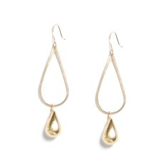 From day to night these teardrop earrings can dress up your most simple outfits. Pair them with a long dainty necklace for a glam vibe. (Stitch Fix Milly Teardrop Drop Charm Earrings)