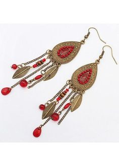6.15$  Watch here - http://di6ol.justgood.pw/go.php?t=155527 - Tassels Decorated Metal Earrings for Woman