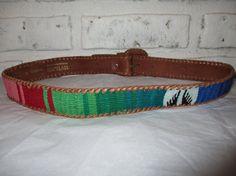 Vintage Woven Guatemalan Omega Belt Southwestern Woven Fabric