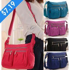 Buy Women Messenger Shoulder Bag Light Weight Nylon Waterproof Sport Bag Mama Bag Cross Body Bag at Wish - Shopping Made Fun Crossbody Shoulder Bag, Crossbody Bag, Travel Handbags, One Bag, Nylon Bag, Clutch Wallet, Luggage Bags, Purple And Black, Diaper Bag