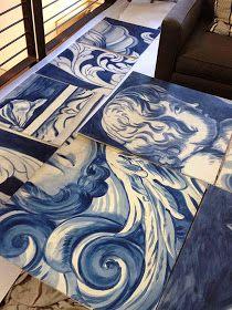 Portuguese tiles-the style saloniste: Bravo, Antonio Martins: Designer I Love