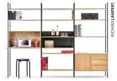 a modular icon dhs10 by herbert hirche consists of tubular steel ladders