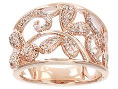 Park Avenue Diamond(Tm) .33ctw Diamond 18k Rose Gold Over Sterling Silver Ring