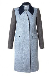 colour block wool coat by Carven