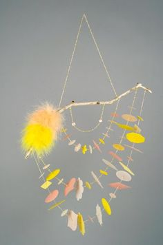 Easy to do baby mobile. #DIY #BabyMobile