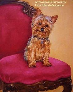 Custom VINTAGE Pet Portrait Still Life Dog Painting by LARA 8x10♥︎♥︎♥︎