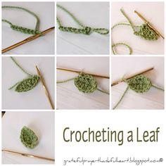Simple #Crochet #Leaf #Tutorial ❥Teresa Restegui http://www.pinterest.com/teretegui/❥