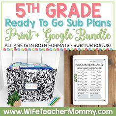 These 5th grade emergency sub plans are no prep substitute plans. Make sub planning easier with sub plans trusted by thousands of fifth grade teachers! Emergency Sub Plans, Teacher Must Haves, Reading Comprehension Strategies, Friendly Letter, School Schedule, Narrative Writing, Third Grade, Teaching Resources, How To Plan