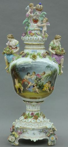 Meissen Porcelain Urn
