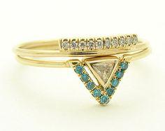 Wedding Diamond Set Diamond ring Pave Ring Wedding by FRomaG