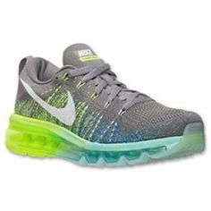 Nike Flyknit Air Max Pas Cher Vente Glacier Ice/Lumière Charcoal/Game Royal Femme Chaussures