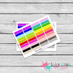 New to InkyDinkPrinting on Etsy: 40 Rainbow Flag Half Sheet Planner Stickers Erin Condren Happy Planner Plum Planner Sticker Sampler EC Life Planner Limelife HS-10 (2.75 USD)
