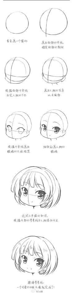 Cómo hacer la cara de una chibi / how to draw a chibi girl face