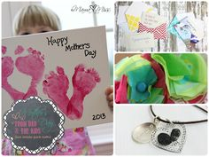 mother's day: From Dad and The Kids {last minute quick crafts}   @mamamissblog #footprints #thumbprints #kidcrafts
