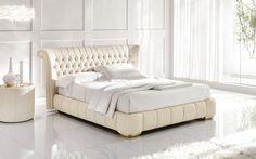 Glamorous Italian leather bed