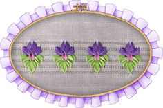Flor calada con cinta, inspirada en la flor de liz