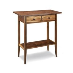 Thomas William Furniture Zebra Two Drawer Hall Table, Artistic Artisan Designer Side Tables