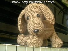 """Amigurumi Dog.  He is easy to crochet and he wants to be your best friend :)   This listing is for an amigurumi pattern, not the finished toy.  The finished dog is approximately 5.5"""" (14cm)..."""