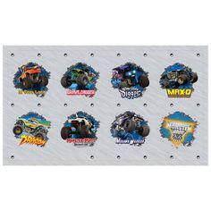 Monster Jam 3D Small Lollipop Sticker Sheet