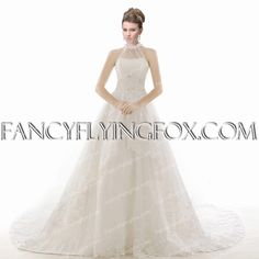 fancyflyingfox.com Offers High Quality Vintage A-line Lace Wedding Dress With Illusion Neckline,Priced At Only US$279.00 (Free Shipping)