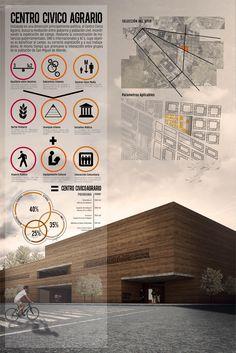 & # Agrarian Civic Center & # by Carlos Octavio Herrejón Magaña Concept Board Architecture, Architecture Presentation Board, Architecture Panel, Architecture Portfolio, Architecture Design, Presentation Boards, Product Presentation, Portfolio Presentation, Architecture Diagrams