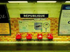 République Metro Station, Paris