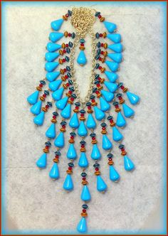 Turquoise Red Turquoise Gold Wild Statement by CiaoBellaJoyaJewels, €110.00