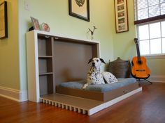 Murphy's Paw  Custom Murphy Dog Bed by CRADesign on Etsy, $699.00 - I love this idea for Bear!