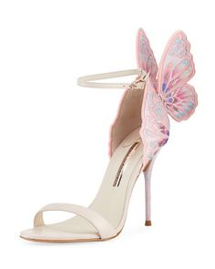 Chiara Embroidered Butterfly Sandal by Sophia Webster at Neiman Marcus.