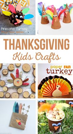 Thanksgiving Kids Crafts - The Crafting Chicks Fun Diy Crafts, Paper Crafts For Kids, Crafts For Kids To Make, Simple Crafts, Kids Diy, Summer Crafts, Easter Crafts, Thanksgiving Crafts For Kids, Thanksgiving Activities