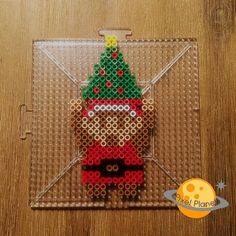 Christmas Link perler beads by pixel_planet_