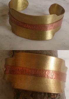 De latón, con adorno cobre. Cuff Bracelets, Belt, Accessories, Jewelry, Copper, Ornaments, Bangle Bracelets, Belts, Jewlery