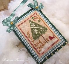 Little House Needleworks cross stitch Christmas ornament