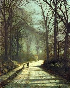 Moonlight Walk Art Print by John Atkinson Grimshaw .  All prints are professionally printed, packaged, and shipped within 3 - 4 business days. Choose from multiple sizes and hundreds of frame and mat options.