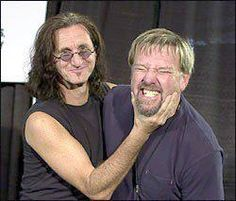 """Geddy and Alex, Rush. Probably after singing, """"Resist"""""""