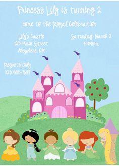 Disney Princess Printable Customizable Girl Birthday by KDPaperie, $9.99