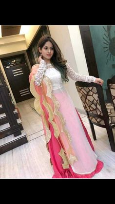 😊Features pink and white embroidered georgette lehenga set available for only 👉To buy whatsapp us on 👉Cod available ✔️ %Assured Original Quality ✔️ . Indian Gowns Dresses, Pakistani Dresses, Indian Outfits, Western Outfits, Designer Party Wear Dresses, Kurti Designs Party Wear, Saris, Stylish Dresses, Fashion Dresses