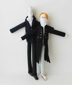 Couple portrait dolls by #FulanaBeltranaSicrana