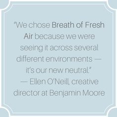 Benjamin Moore 39 S Colour Of The Year 2014 Breath Of Fresh