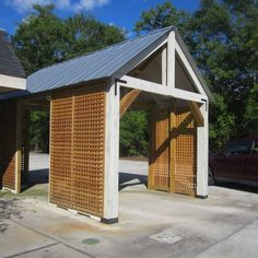 Colorbond steel carport screen with slats project board for Stand alone carport designs