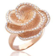 Pink Gold Diamond Ring By Effy